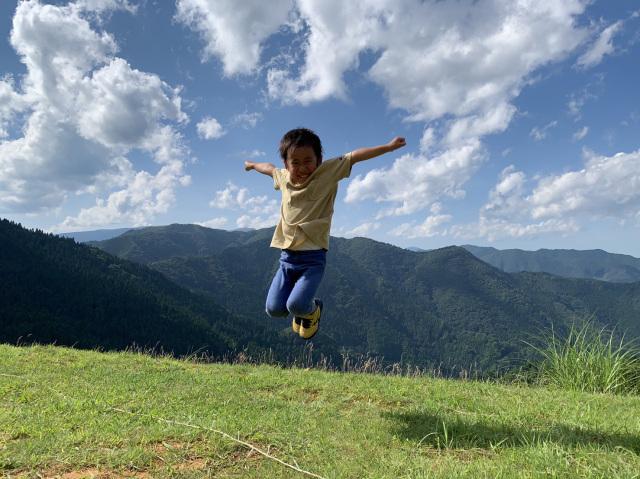 お山でジャンプ!