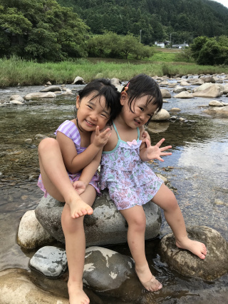 初めての川遊び!