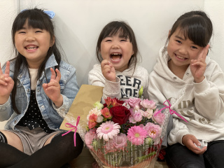 3人の笑顔