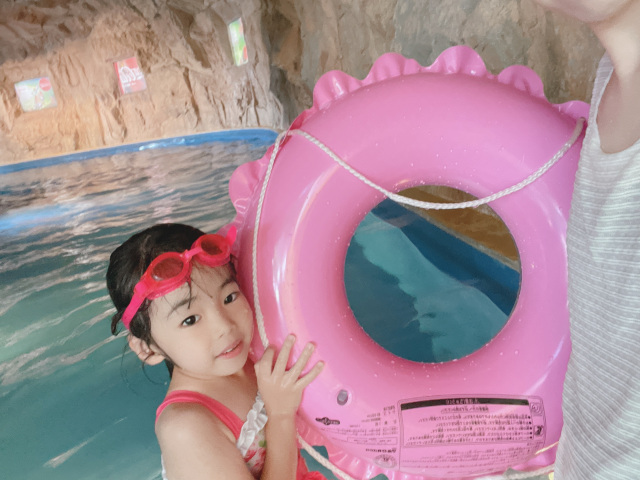 初めてのプール