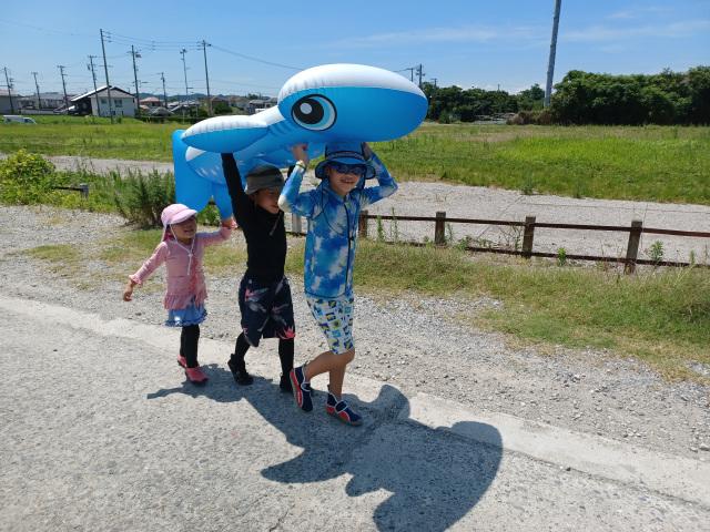 海だー!夏休み最高☆